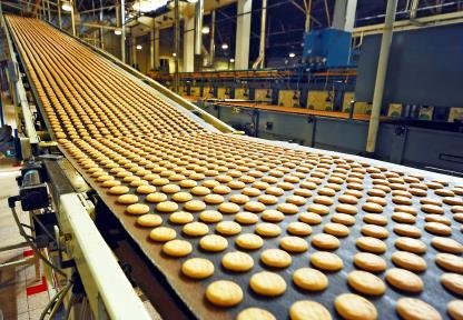 Food manufacturing cookies